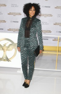 Tracee Ellis Ross attends the premiere of 'The Hunger Games: Mockingjay-Part 1' in LA
